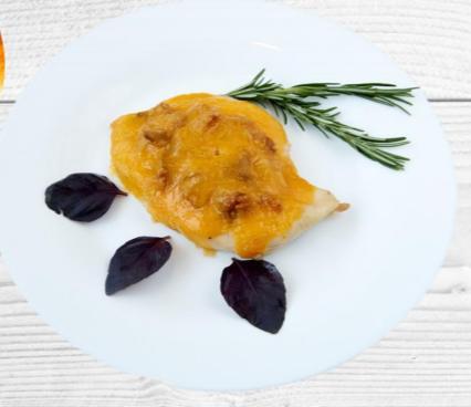 Куриное филе с сыром и белыми грибами